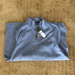 Polo Ralph Lauren 1/4 zip (light blue) (Lrg)